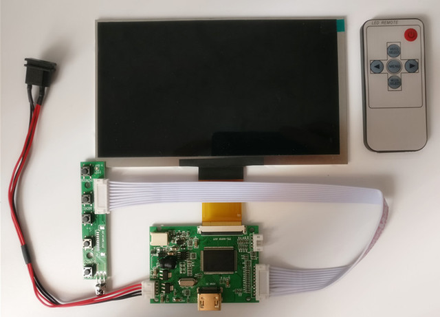 7 pulgadas 1024*600 HD pantalla LCD pantalla de alta resolución Monitor controlador tablero HDMI para Android Windows Raspberry pi