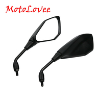 MotoLovee Motorcycle Mirror Universal Motorbike Replacement Parts Rear View Mirrors 10mm 8mm On Sales Big Size Glass