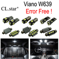 23pc X Bright canbus Error Free LED interior dome light lamp Kit package For Mercedes Benz Viano W639 (2011-2015)