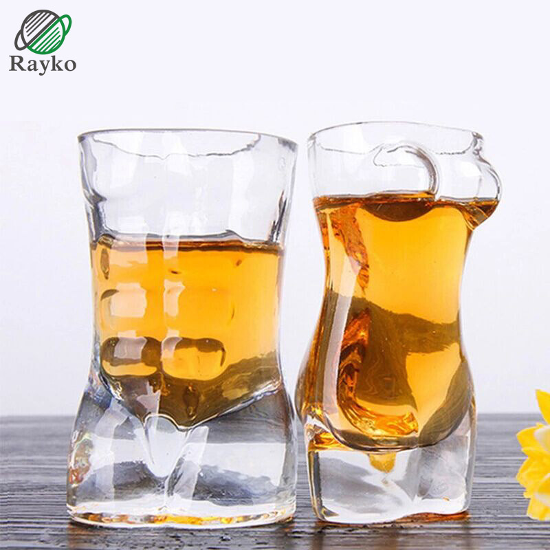 RAYKO Whisky Beer Cup Glass Drink Crystal Drinking Wine Juice Cup Originality Thickening Gifts Wedding Glass GL23