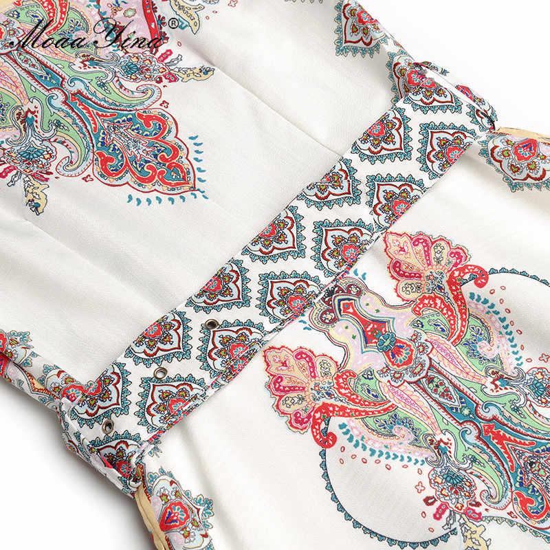 MoaaYina ファッションデザイナー滑走路のドレス秋の女性はシングルブレストベルトエレガントホリデーロングドレスドレス