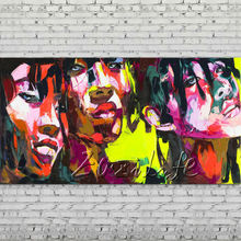 Palette knife portrait Face Oil painting Character figure canva Hand painted Francoise Nielly wall Art picture for living room67