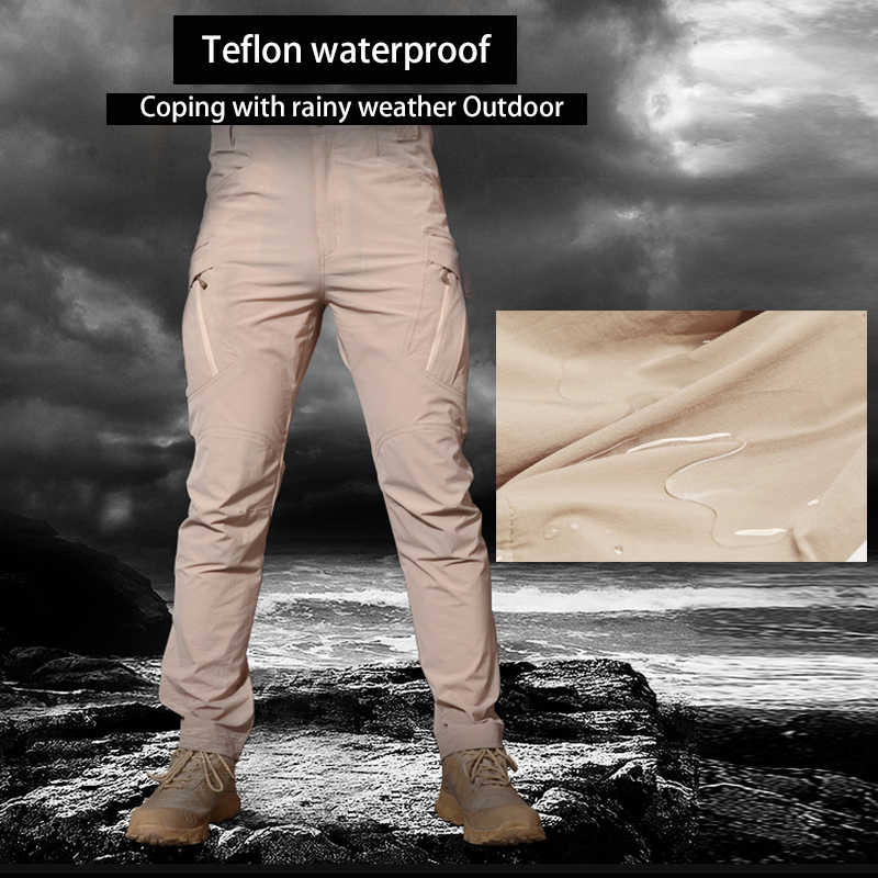 Calça tática esportiva de tecido elástico ix9, calças estilo militar de tecido impermeável para homens e mulheres, esportes ao ar livre, acampar, escalar, caminhar, cargo