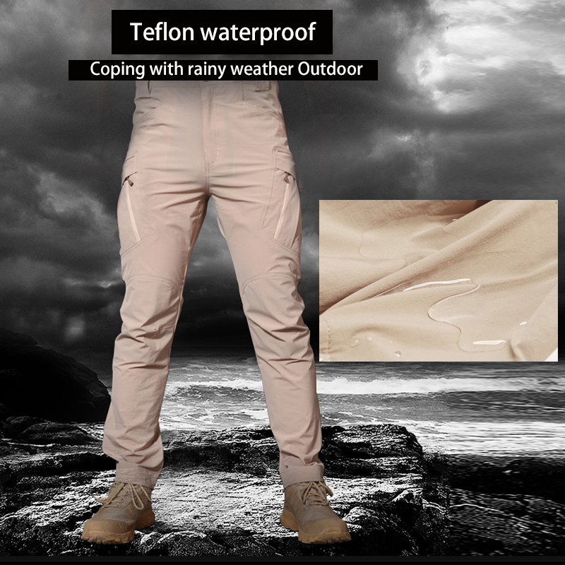 Image 5 - IX9 Stretch Hiking Pants Men Outdoor Sports Trekking Camping Fishing Cargo Waterproof Women Trousers Military Tactical Pants-in Hiking Pants from Sports & Entertainment