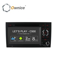 Ownice C500 Octa 8 Core 4G SIM LTE ANDROID CAR DVD Multimedia PLAYER for Audi A4 2002 2008 wifi GPS BT Radio Audio Steteo PC DVR