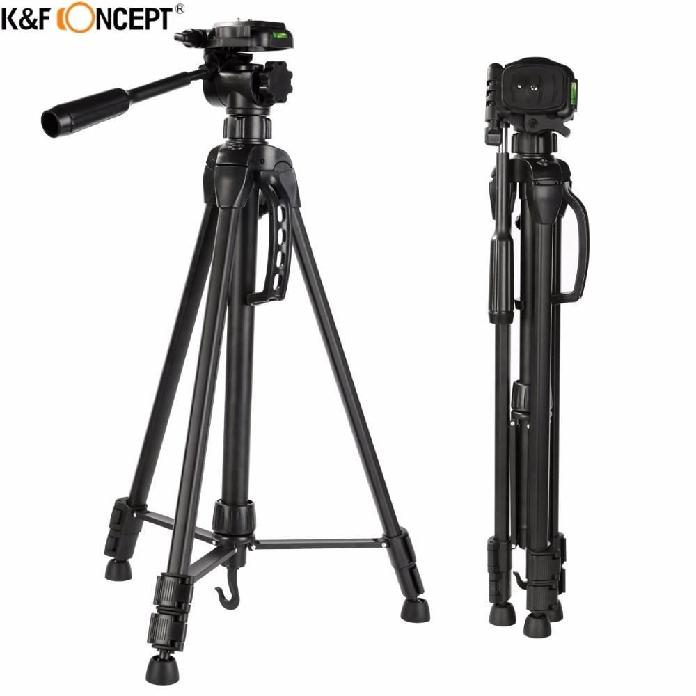 K&F CONCEPT TL2023 Lightweight Portable Camera Tripod Extendable Travel Photography Tripod Aluminum Alloy For SLR DSLR Camera