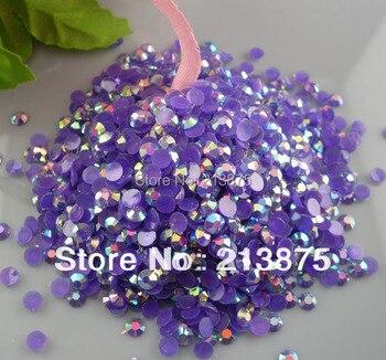 Wholesale large quantity 100000pcs Dark purple Magic color AB jelly 3mm resin rhinestones Mobile stick drill Nail Art SS12 0443#