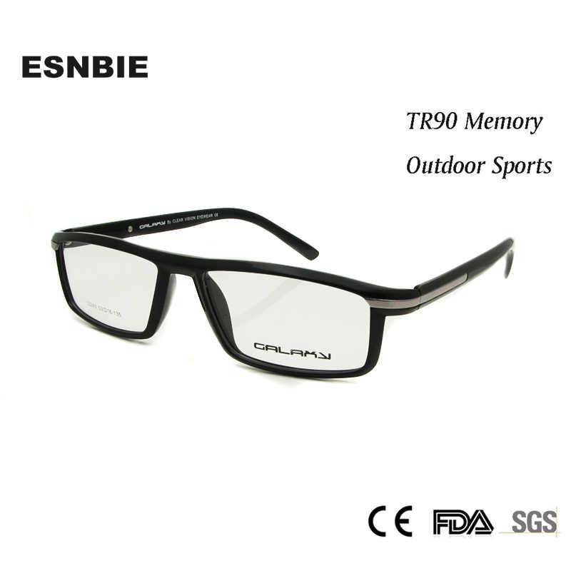 938beba7143 ESNBIE NEW Men s Prescription Eyewear Optical Glasses TR90 Eyeglasses Frame  Men oculos de grau Clear Lens
