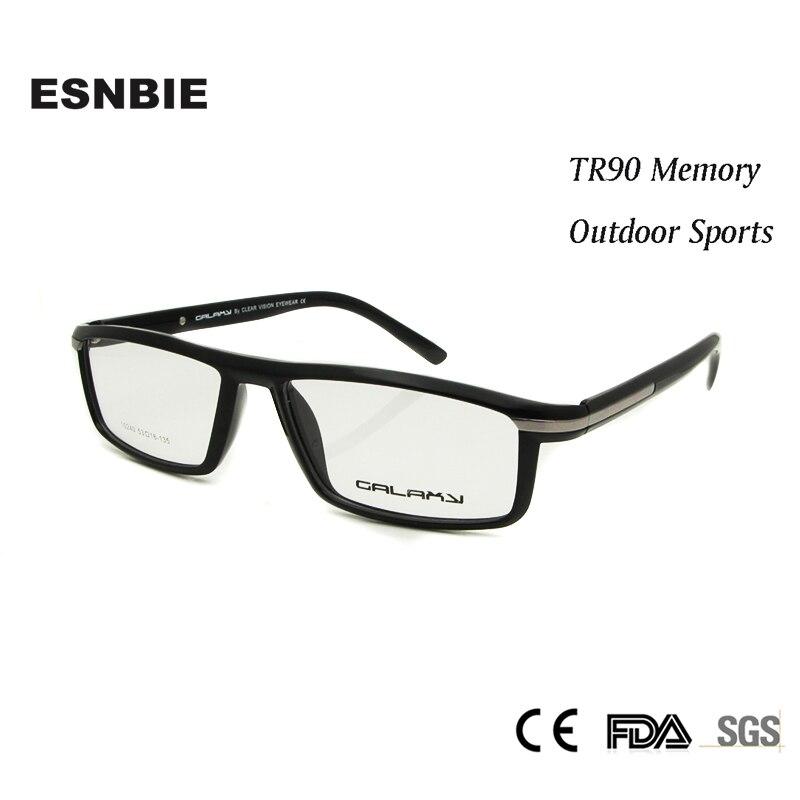 TR90 ESNBIE NOVOS homens Óculos de Prescrição de Óculos Ópticos Quadro  Homens Óculos oculos de grau óculos de Lente Clara fff9cb85ac