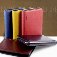 B5 A5 A6 Manager Spiral PU Leather Zipper Notebook  Journals Filofax Agenda Calculator Pen Holder Portfolio Organizer Planner