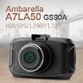 Ambarella A7 Car DVR GS90A Car Camera 1296P HD Dvr Recorder Dash Cam With GPS Night Vision Camera