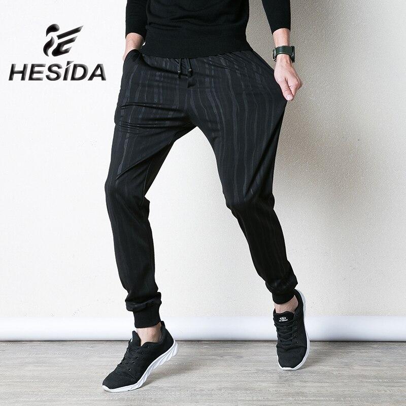 Pantalons de Sport pour hommes noir rayure course Sport pantalons de survêtement Gym entraînement Long pantalon élastique Jogging 2018 Fitness Sportswear