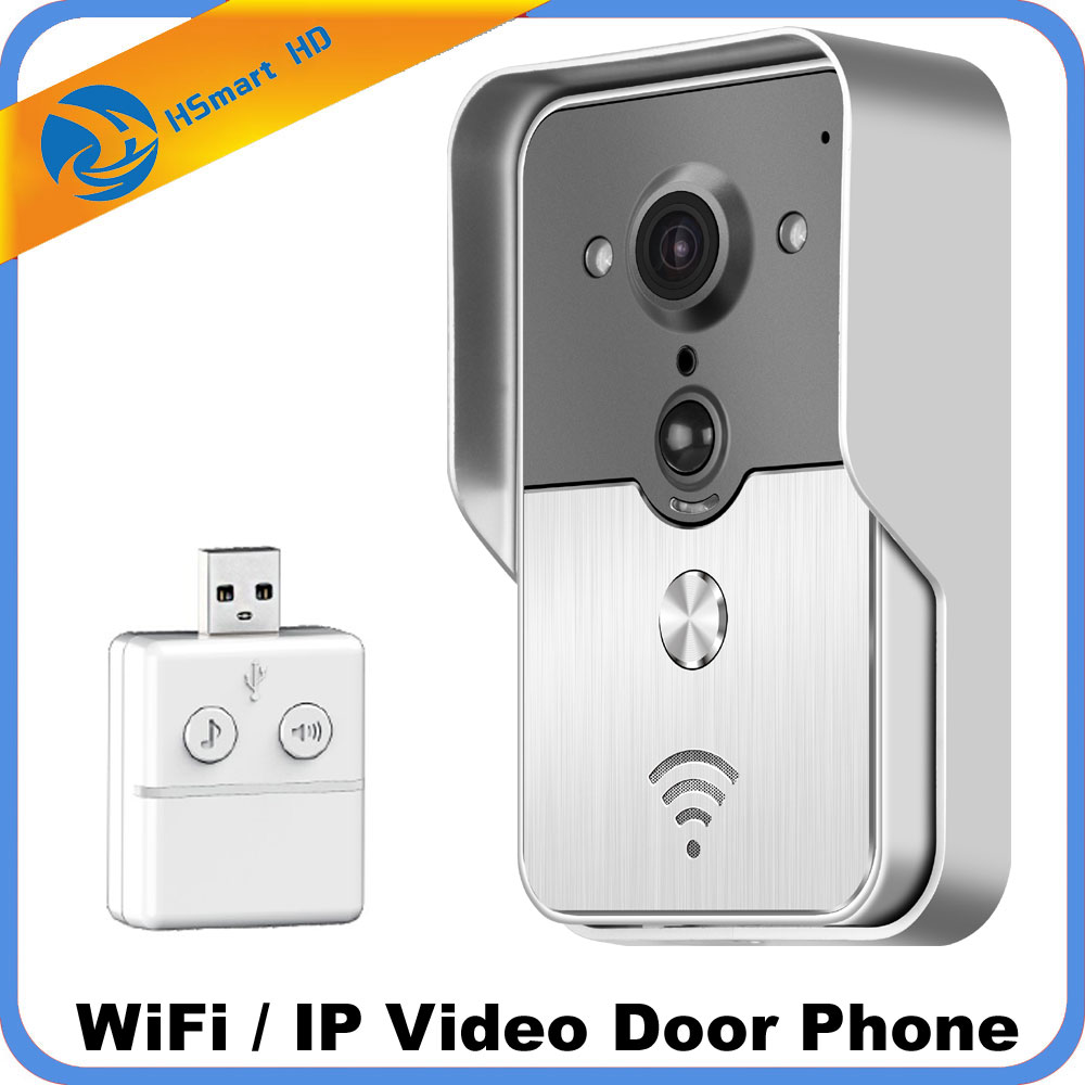 WiFi Smart Video Doorphone 1.0MP HD 720P IP Camera Wireless Video Intercom System Waterproof Iphone Android APP Mobile Doorbell zilnk video intercom hd 720p wifi doorbell camera smart home security night vision wireless doorphone with indoor chime silver