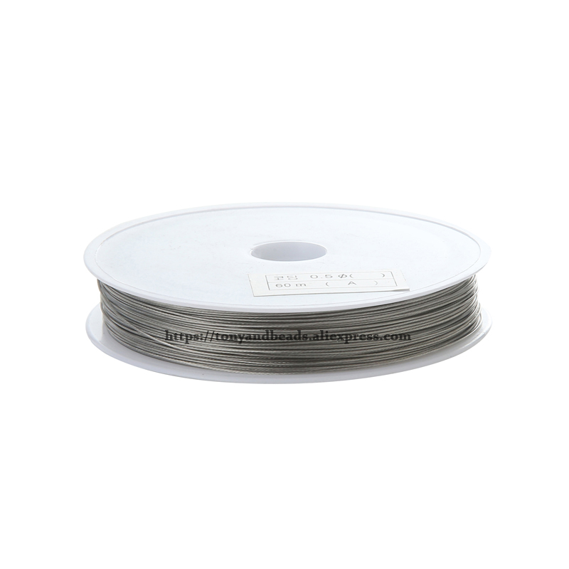 9th Aug Free Shipping Size  0.3-0.8mm Diamter Steel Metal String Beading Wire Cord String Thread Pick Size For Jewelry Making