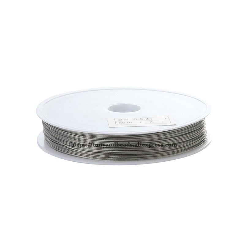 9th August Freies Verschiffen Größe 0,3-0,8mm Diamter Stahl Metall String Perlen Draht Schnur String Gewinde Pick Größe für Schmuck Machen