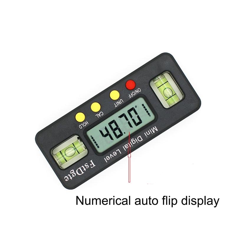 Мини цифровой транспортир 100 мм 360 градусов, угломер, инклинометр, электронный уровень с магнитным инструментом для измерения нижнего угла
