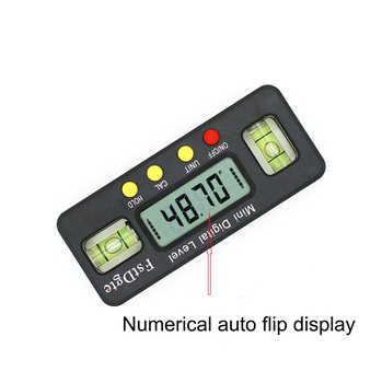 100mm 360 grad mini digital winkelmesser Winkel Finder neigungsmesser elektronische ebene mit magnetischem boden winkel messen werkzeug