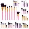 9 Unids mutil-color de Pinceles de Maquillaje Profesional Set Powder Foundation Blush Delineador de Ojos Sombra de Ojos Maquillaje Herramientas Kits (opp bolsa de embalaje)