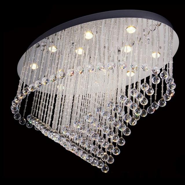 Fesselnd Neue Oval Design Decke Kristall Kronleuchter LED Kristall Moderne Wohnzimmer  Leuchten