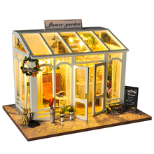 CUTEBEE DIY Doll House Wooden Doll Houses Miniature dollhouse Furniture Kit Toys for children Christmas Gift TD26