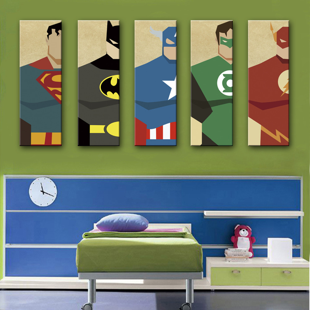 HD Superman Posters Canvas Art Print Painting Poster Wall Pictures For Home Decoration Decor 15120520 In Calligraphy From