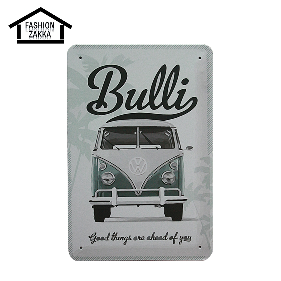 online shop new black & white car metal tin sign coffee pub