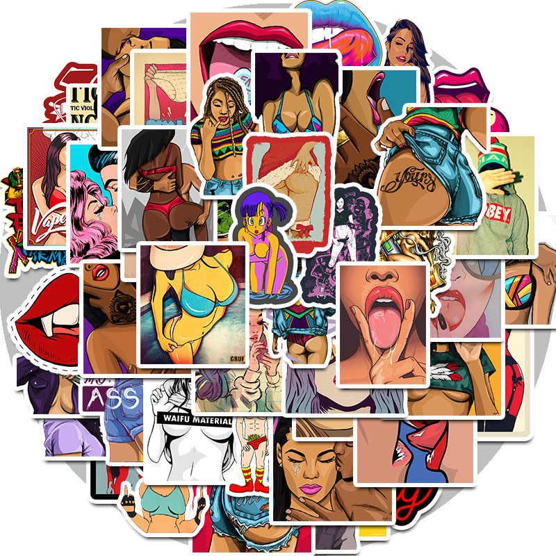 50PCS ragazze Sexy Erotici Adesivo Graffiti Adesivi per il FAI DA TE Sticker on custodia Da Viaggio Portatile di Skateboard Chitarra Frigo telefono bagagli