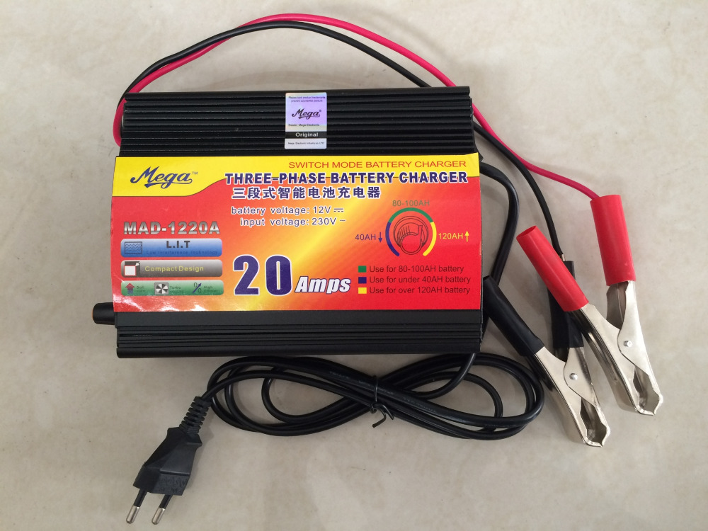 Free shipping! 220V to 12V AC/DC Adapters, 20A, Car Battery Charger Boat Bicycle Lead-acid Battery Charger 220v to dc 24v battery charger for lead acid battery