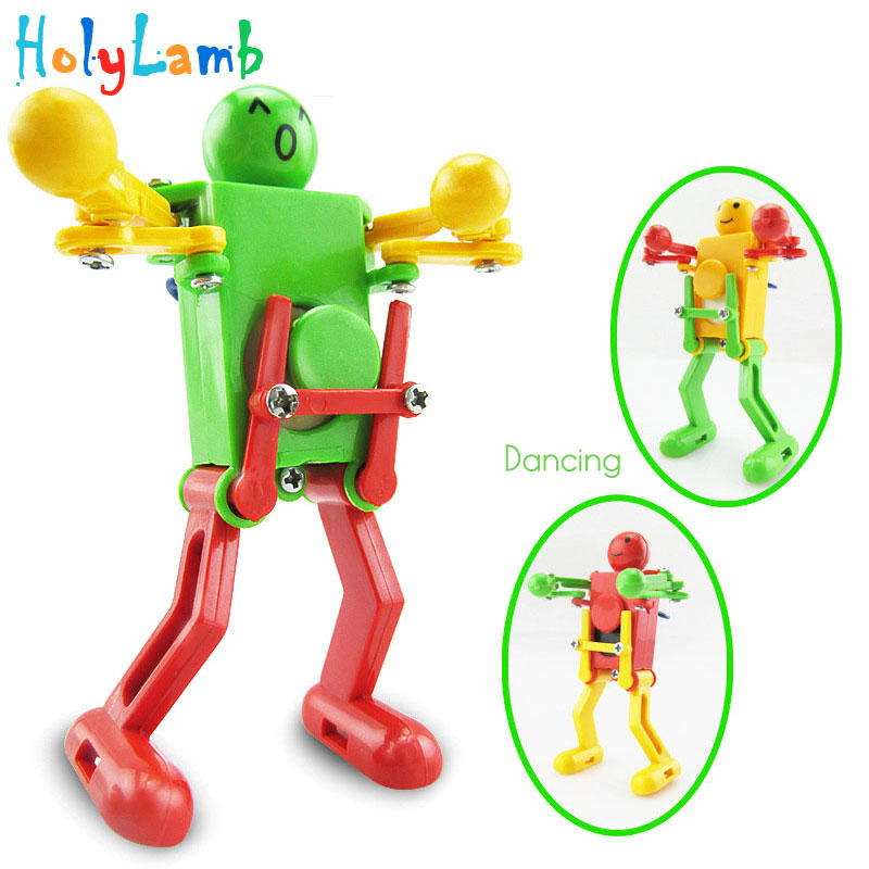 1Pcs Random Color Novelty Dancing Robot Gift Kids Children Baby Clockwork Classic Educational Toys Develop Intelligence Gift