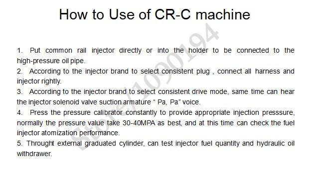 CRC common rail injector tester 22