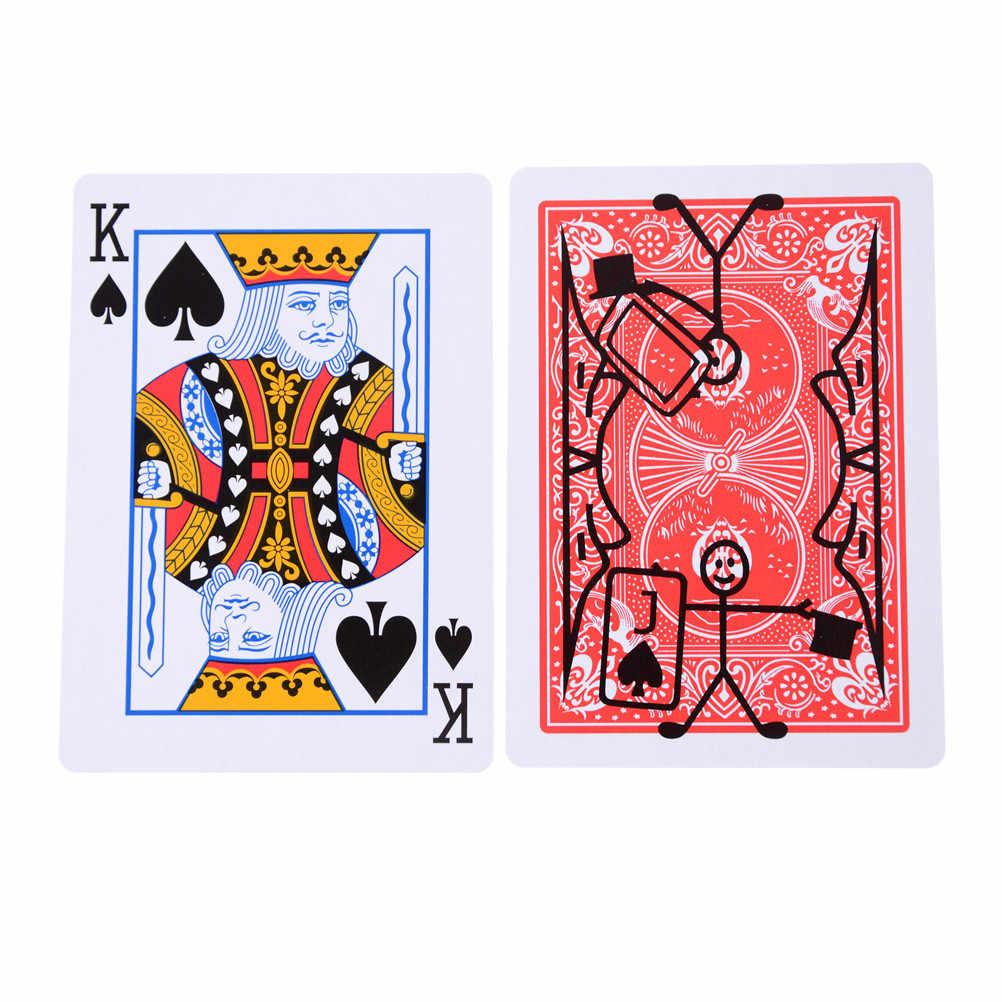 Nuevo juego de magia divertida, trucos de magia, truco mágico Utilería de dibujos animados paquete de tarjetas de juego de cartas de animación 1 Juego