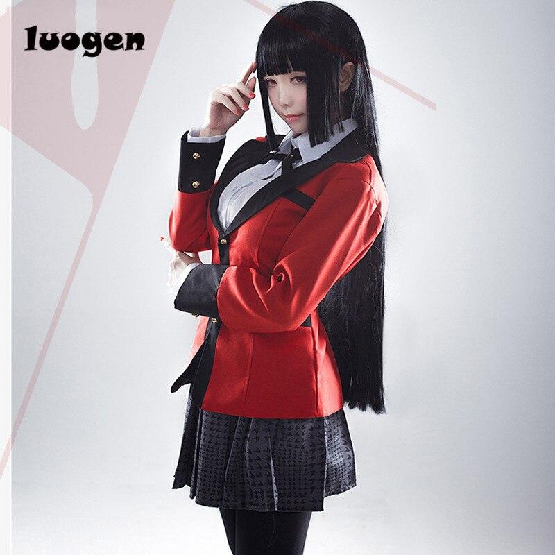 аниме kakegurui yumeko jabami костюмы для косплей pans Cole обувь для девочек форма полный комплект куртка + рубашка + юбка + чулки + галстук