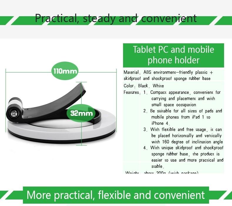 טלפון נייד תמיכה עצלן תמיכה מיני שולחן עבודה תמיכה עבור אפל, סמסונג Xiaomi אנדרוס אוניברסלי רב תכליתי סוגריים.