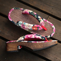 wood sandals 2017 New Fashion Retro Japanese style clogs fashion wooden flip flops slippers Women's clogs slippers