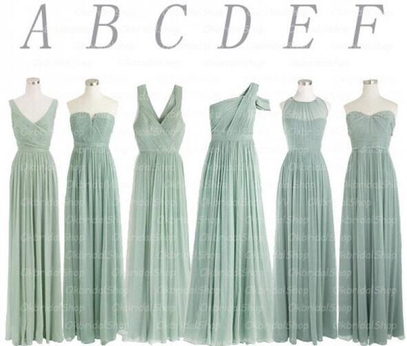 Sage Green   Bridesmaid     Dresses   Mismatched Chiffon A Line Wedding Guest   Dresses   Vestido Dama De Honra Formal Party   Dresses