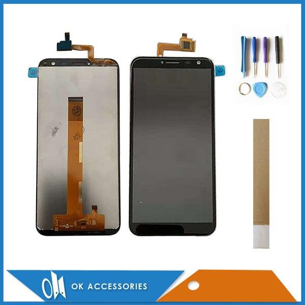 5,5 pulgadas para DEXP Ixion G155 LCD Dispaly + pantalla táctil digitalizador reemplazo de alta calidad Color negro con cinta de herramientas