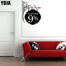 Personagem plataforma quarto do miúdo 9 3/4 vinil adesivos de parede decalques engraçados porta adesivo a0079