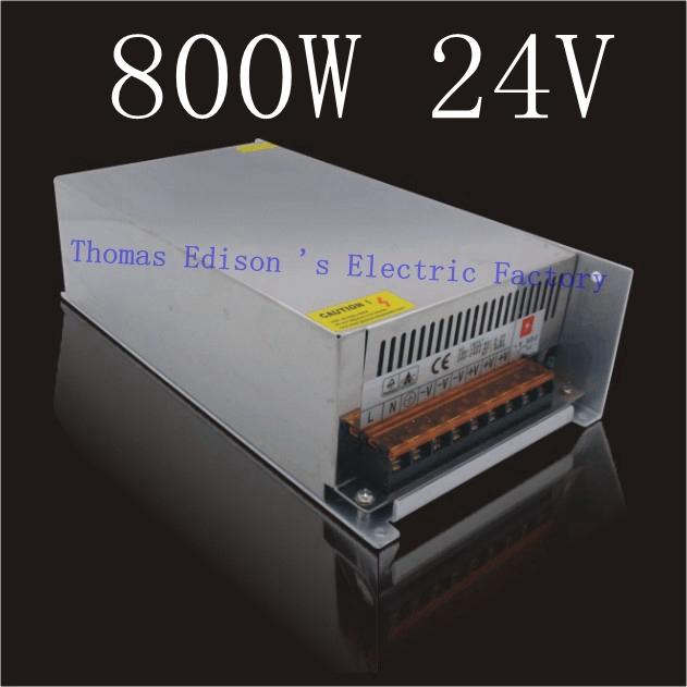 DIANQI Top Quality 24v Switching Power Supply 800w 24v 33A  input AC110 or 220V For Strip Lamps power suply voltage transformer power supply 24v 800w dc power adapter ac110 220v non waterproof led driver 33a ups for strip lamps wholesale 1pcs