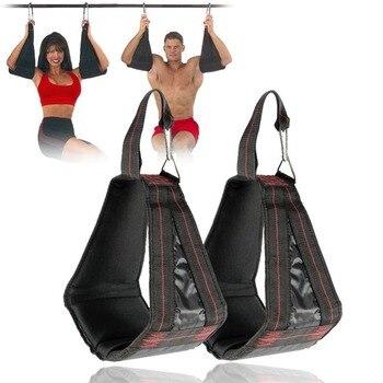 1 쌍 당겨 바 ab 슬링 서스펜션 교수형 스트랩 벨트 복부 근육 훈련 윗몸 일으키기 코어 홈 체육관 휘트니스 장비