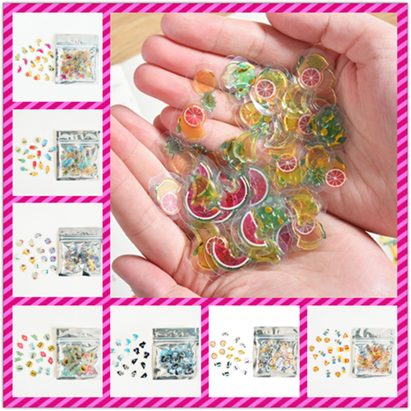 New 100 Pcs Mini Transparent 3D PVC Crystal Candy Stickers Creative Animal Dolphin Cat Fruit Decorative Sticker For Diary Album Student School Stationery Offers Limited Time Discounts
