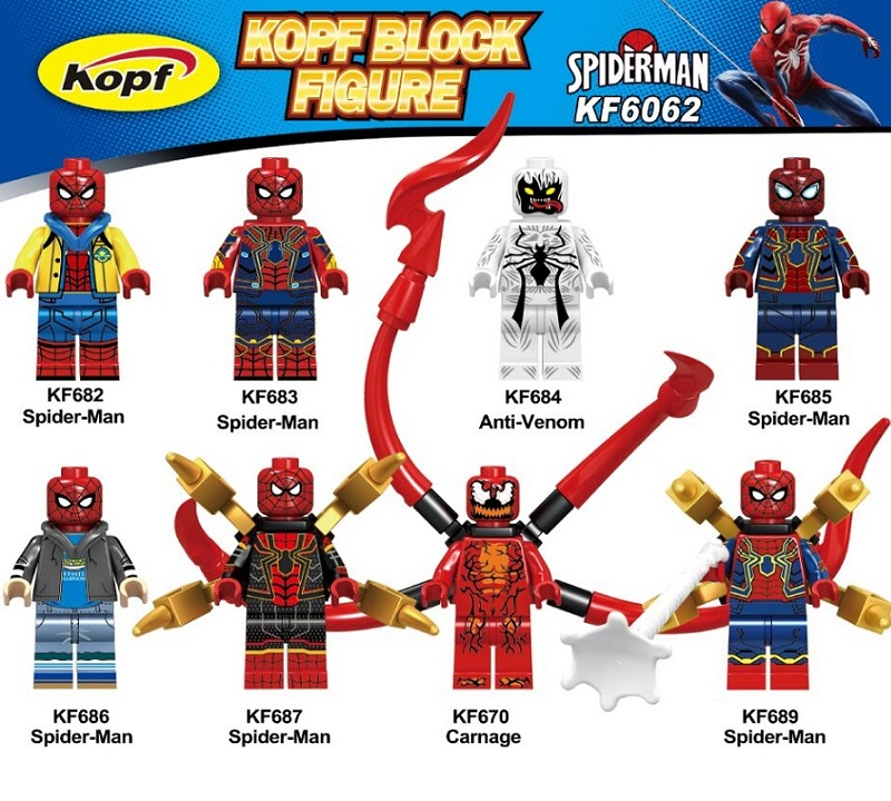 20Pcs Building Blocks Single Sale Model Spider Man Anti Venom Spider-man Spiderman Plastic Collection Toys For Children <font><b>KF6062</b></font> image