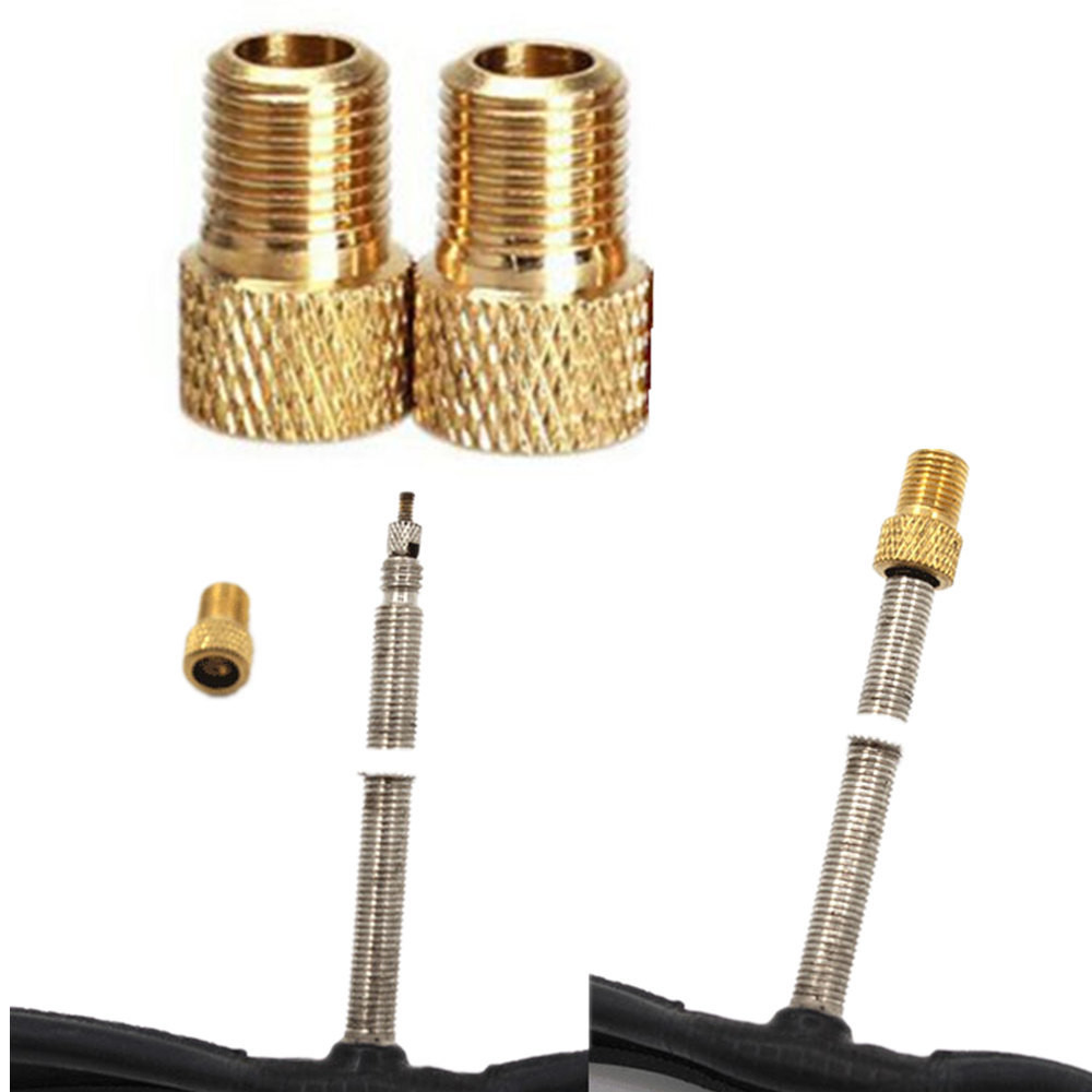 2Pc Brass Adaptor Presta To Schrader Bicycle Valve Converter Bike Pump Connector 2019 New Arrival #502Pc Brass Adaptor Presta To Schrader Bicycle Valve Converter Bike Pump Connector 2019 New Arrival #50
