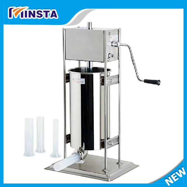 3L manual 403 stainless steel sizes tubes sausage stuffer sausage maker machine fast food leisure fast food equipment stainless steel gas fryer 3l spanish churro maker machine