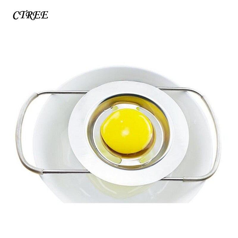 CTREE 2018 Hot Sell Stainless Steel Eggs Yolk Separator Eggs Albumin Filter Household Baking Tools Eggs Leak eggs Separator C539