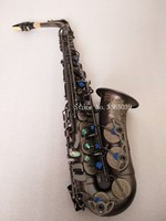 Горячая Франция бренд SAS 802 НОВЫЙ Саксофон E плоский альт Высокое качество черный саксофон супер Professional музыкальные инструменты бесплатно