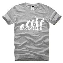進化のシェフユーモラスなクリエイティブノベルティメンズ男性tシャツtシャツ2016新しい半袖oネックコットンtシャツtシャツ