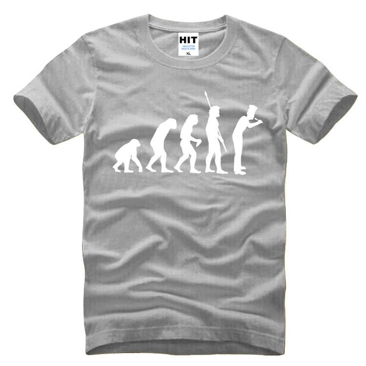 Evolution Of Chef Humorous Creative Novelty Mens Men T Shirt T-shirt 2016 New Short Sleeve O Neck Cotton Tshirt Tee