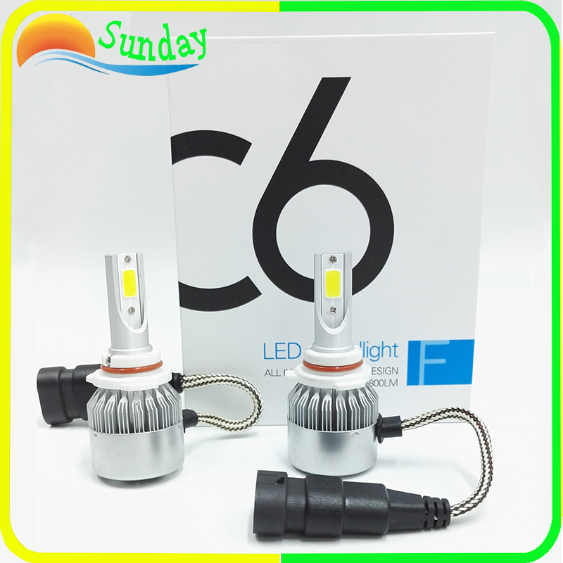 c6 Led H1 H3 H7 9005 9006 H11 H13 9004 9007  Led Auto Car Headlight 72 w 7600lm 6000k Automobile Bulb COB 2PC/Lot car headlight led h4 h7 h11 72w 8000lm 6000k led h1 h3 h13 9005 9006 9004 880 9007 auto cob bulb automobiles headlamp car light