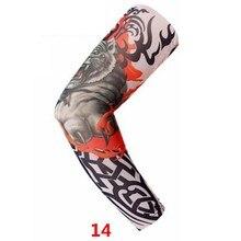 † Мужские рукава для татуировок Летняя защита от солнца Временные накладные накладные чулки для