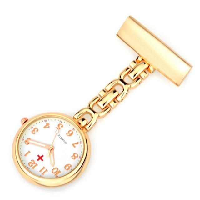 ALK VISION Clip-on Fob Nurse Watch Brooch Hanging Watches Nurse Japan Quartz Mov